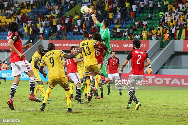 Goalkeeper Essam El Hadary of Egypt in action during the 2017 Africa Cup of Nations group D football match between Mali and Egypt in PortGentil Gabon...