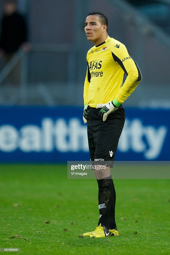 goalkeeper Esteban Alvarado Brown of AZ during the Dutch Eredivisie match between FC Utrecht and AZ Alkmaar at the Galgenwaard Stadium on December 02, 2012 in Utrecht, The Netherlands.