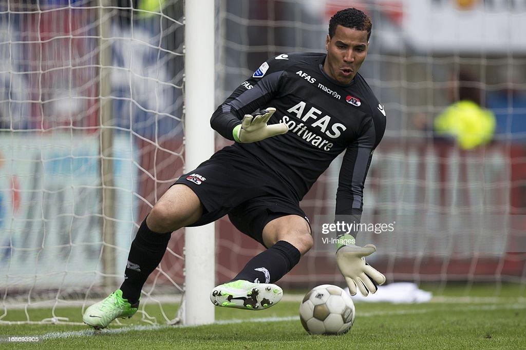 goalkeeper Esteban Alvarado Brown of AZ during the Dutch Eredivisie match between Willem II and AZ Alkmaar on May 12, 2013 at the Koning Willem II stadium in Tilburg, The Netherlands.