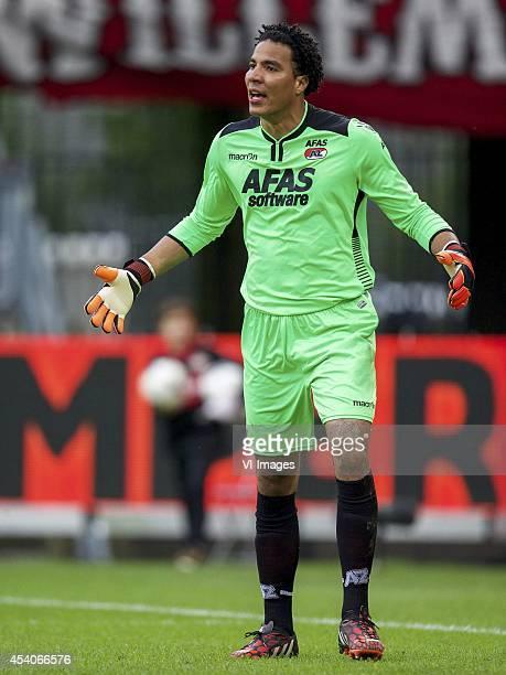 goalkeeper Esteban Alvarado Brown of AZ during the Dutch Eredivisie match between Willem II and AZ at the Koning Willem II stadium on august 23 2014...
