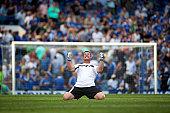 goalkeeper exulting