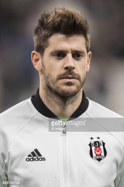 goalkeeper Fabricio Agosto Ramirez of Besiktas JKduring the UEFA Europa League round of 16 match between Besiktas JK and Hapoel Beer Sheva on...