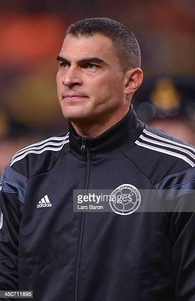Goalkeeper Farid Mondragon looks on during the International Friendly match between Netherlands and Colombia at Amsterdam ArenA on November 19 2013...