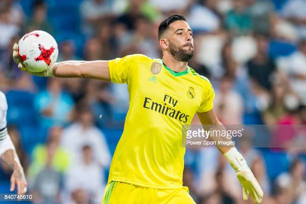 Goalkeeper Francisco Casilla Cortes Kiko Casilla of Real Madrid in action during the Santiago Bernabeu Trophy 2017 match between Real Madrid and ACF...