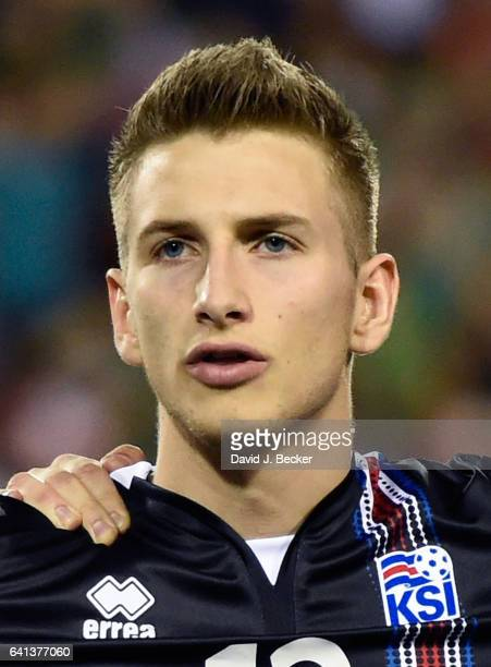 Goalkeeper Frederik Schram of Iceland stands on the field before the team's exhibition match against Mexico at Sam Boyd Stadium on February 8 2017 in...