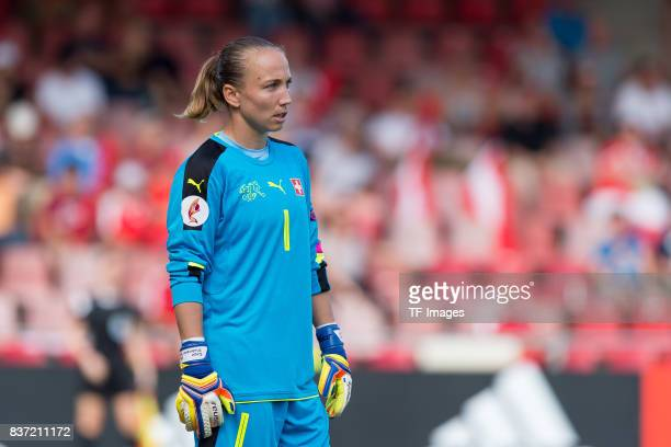 Goalkeeper Gaelle Thalmann of Switzerland looks on during the Group C match between Austria and Switzerland during the UEFA Women's Euro 2017 at...