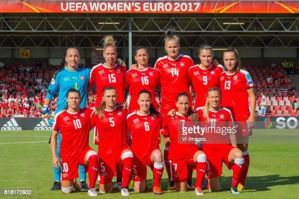 goalkeeper Gaelle Thalmann of Switzerland women Caroline Abbe of Switzerland women Fabienne Humm of Switzerland women Rahel Kiwic of Switzerland...