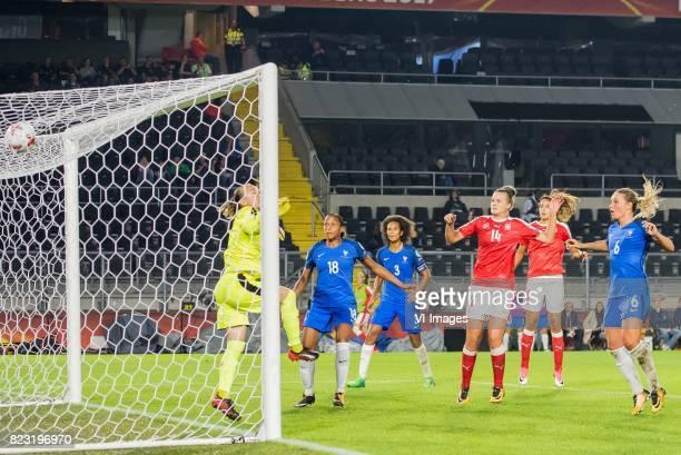 goalkeeper Gaelle Thalmann of Switzerland women MarieLaure Delie of France women Wendie Renard of France women Rahel Kiwic of Switzerland women...