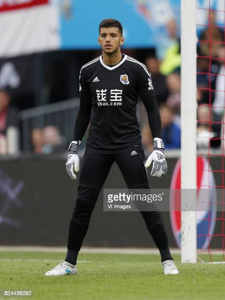 goalkeeper Geronimo Rulli of Real Sociedad de Futbol during the preseason friendly match between Feyenoord Rotterdam and Real Sociedad at the Kuip on...