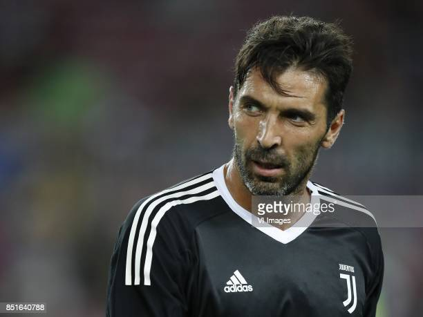 goalkeeper Gianluigi Buffon of Juventus FC during the UEFA Champions League group D match between FC Barcelona and Juventus FC on September 12 2017...