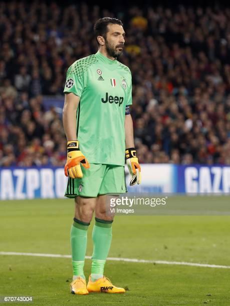 goalkeeper Gianluigi Buffon of Juventus FCduring the UEFA Champions League quarter final match between FC Barcelona and Juventus FC on April 19 2017...