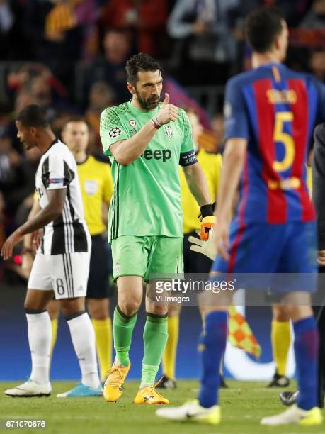 goalkeeper Gianluigi Buffon of Juventus FCduring the UEFA Champions League quarter final match between FC Barcelona and Juventus FC on April 19 2017...