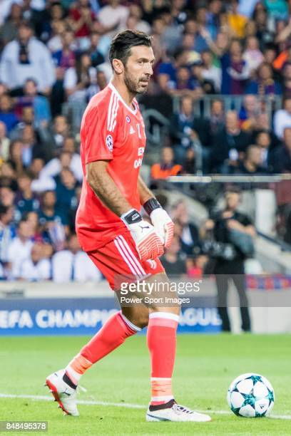 Goalkeeper Gianluigi Buffon of Juventus in action during the UEFA Champions League 201718 match between FC Barcelona and Juventus at Camp Nou on 12...