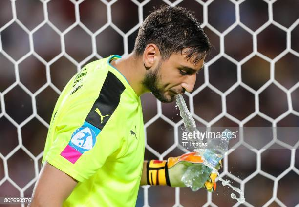 Goalkeeper Gianluigi Donnarumma of Italy during the UEFA U21 championship match between Italy and Germany at Krakow Stadium on June 24 2017 in Krakow...