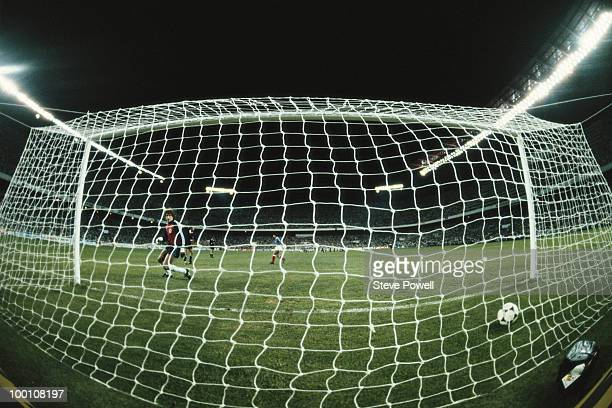 Goalkeeper Harald Schumacher of the Federal Republic of Germany looks back into the back of the net after Alain Giresse of France scores the first...