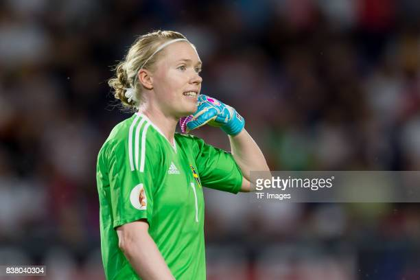 Goalkeeper Hedvig Lindahl of Sweden looks on during the Group B match between Germany and Sweden during the UEFA Women's Euro 2017 at Rat Verlegh...