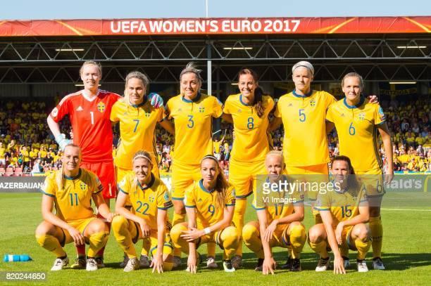 goalkeeper Hedvig Lindahl of Sweden women Lisa Dahlkvist of Sweden women Linda Sembrant of Sweden women Lotta Schelin of Sweden women Nilla Fischer...