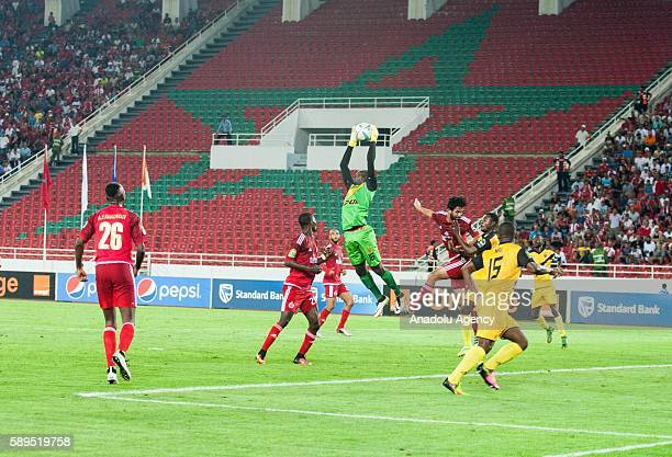 ASEC goalkeeper Herve Koffi Kouakou in action during the Group A match of CAF Champions League between Wydad Casablanca and ASEC at the Prince Moulay...
