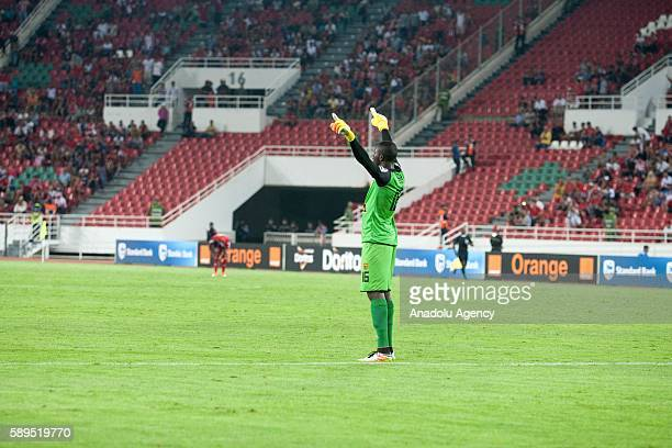 ASEC goalkeeper Herve Koffi Kouakou is seen during the Group A match of CAF Champions League between Wydad Casablanca and ASEC at the Prince Moulay...