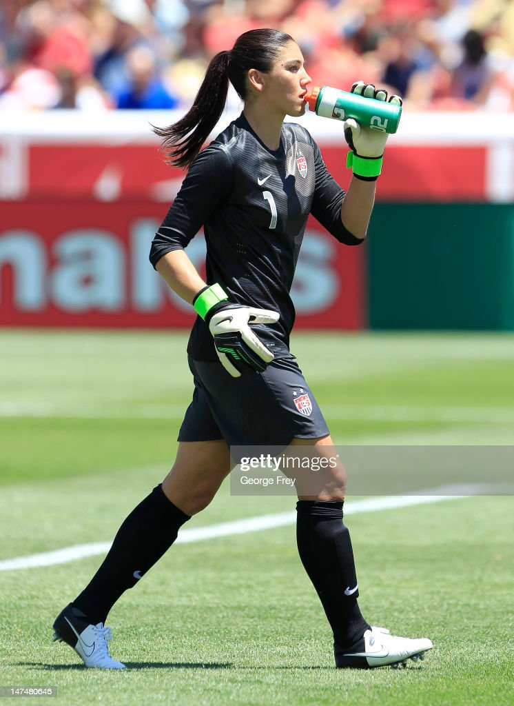 Hope (AR) United States  city pictures gallery : Goalkeeper Hope Solo #1 of the USA takes a drink during a game against ...