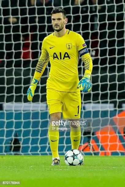 goalkeeper Hugo Lloris of Tottenham Hotspur controls the ball during the UEFA Champions League group H match between Tottenham Hotspur and Real...