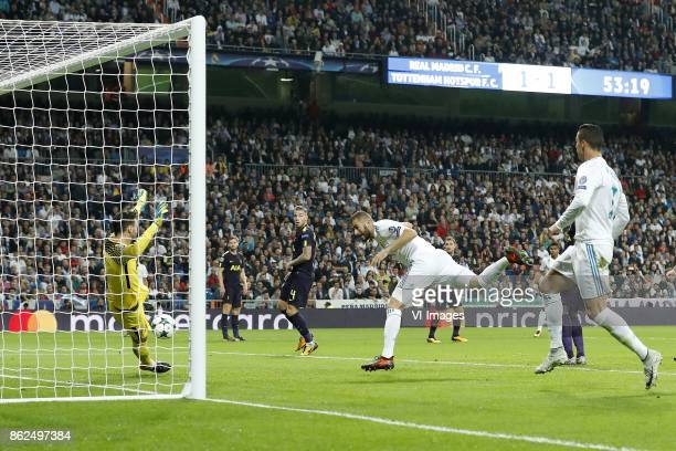 goalkeeper Hugo Lloris of Tottenham Hotspur FC Jan Vertonghen of Tottenham Hotspur FC Toby Alderweireld of Tottenham Hotspur FC Karim Benzema of Real...