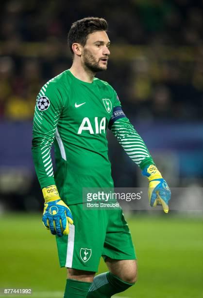 Goalkeeper Hugo Lloris of Tottenham Hotspur looks on during the UEFA Champions League group H match between Borussia Dortmund and Tottenham Hotspur...