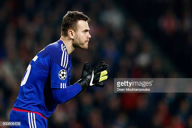 Goalkeeper Igor Akinfeev of CSKA looks on during the group B UEFA Champions League match between PSV Eindhoven and CSKA Moscow held at Philips...