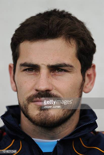 Goalkeeper Iker Casillas of Spain prior to the start of the International Friendly match between Spain and South Korea at Stadion Tivoli Neu on June...