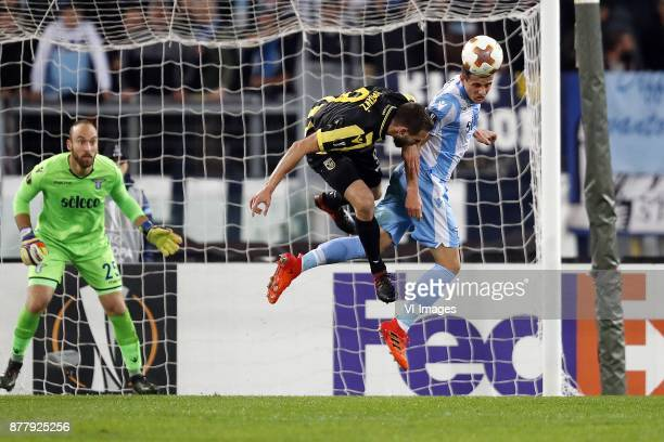 goalkeeper Ivan Vargic of SS Lazio Tim Matavz of Vitesse Luis Felipe Ramos Marchi of SS Lazio during the UEFA Europa League group K match between SS...