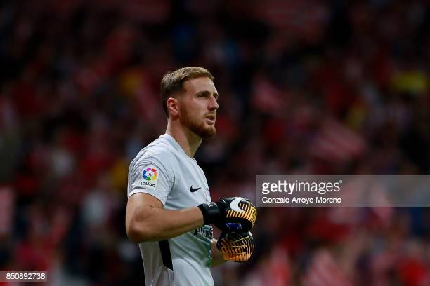 Goalkeeper Jan Oblak of Atletico de Madrid looks on during the La Liga match between Club Atletico Madrid and Malaga CF at Estadio Wanda...