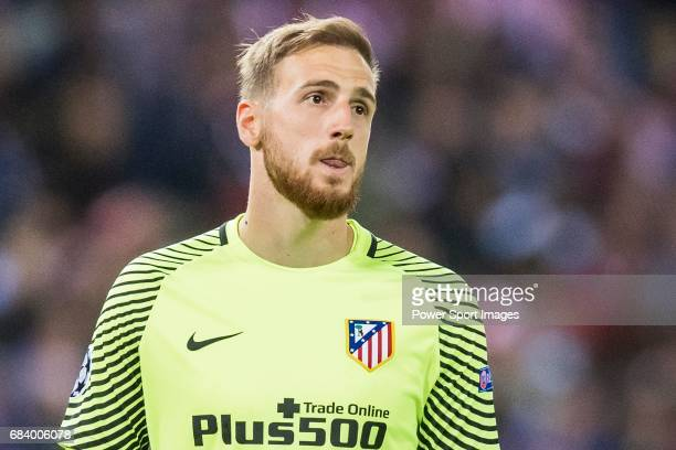Goalkeeper Jan Oblak of Atletico de Madrid reacts during their 201617 UEFA Champions League Semifinals 2nd leg match between Atletico de Madrid and...