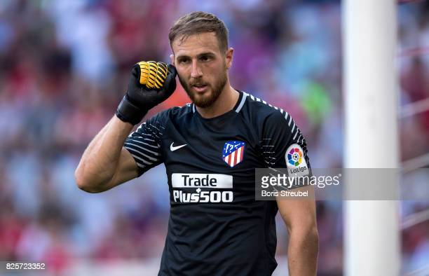 Goalkeeper Jan Oblak of Atletico Madrid looks on during the Audi Cup 2017 match between Club Atletico de Madrid and SSC Napoli at Allianz Arena on...