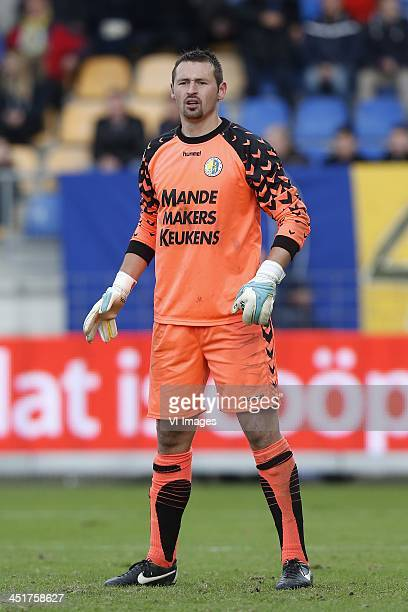 Goalkeeper Jan Seda of RKC Waalwijk during the Dutch Eredivisie match between RKC Waalwijk and Feyenoord on November 24 2013 at the Mandemakers...