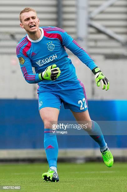 goalkeeper Jasper Cilissen of Ajax during the Dutch Eredivisie match between Excelsior Rotterdam and Ajax Amsterdam at Woudenstein stadium on...