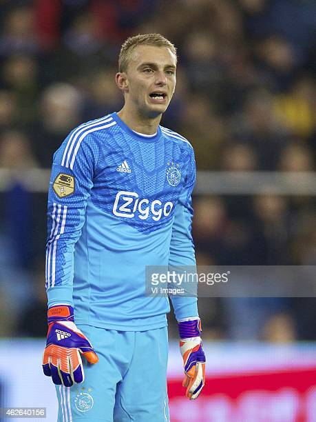 goalkeeper Jasper Cillessen of Ajax during the Dutch Eredivisie match between Vitesse and Ajax at the Gelredome on february 1 2015 in Arnhem the...