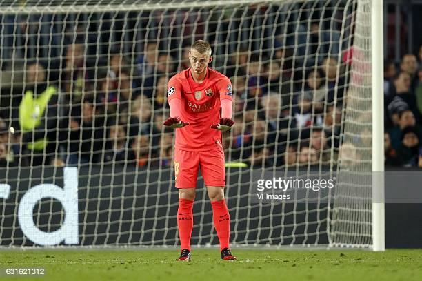 goalkeeper Jasper Cillessen of FC Barcelonaduring the UEFA Champions League group C match between FC Barcelona and Borussia Monchengladbach on...