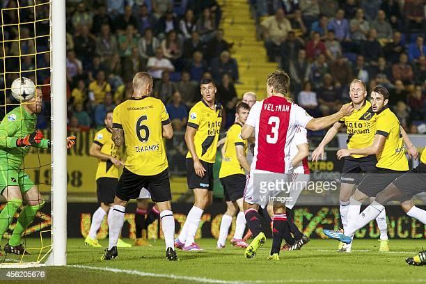 goalkeeper Jelle ten Rouwelaar of NAC Breda Remy Amieux of NAC Breda Joeri de Kamps of NAC Breda Stipe Perica of NAC Breda Isak Ssewankambo of NAC...