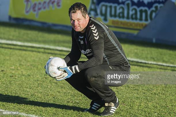 Goalkeeper Jeroen Verhoeven of FC Utrecht during the training camp of FC Utrecht on January 6 2013 in Benidorm Spain