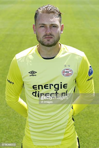 goalkeeper Jeroen Zoet during the team presentation of PSV Eindhoven on July 20 2016 at the Herdgang in Eindhoven The Netherlands