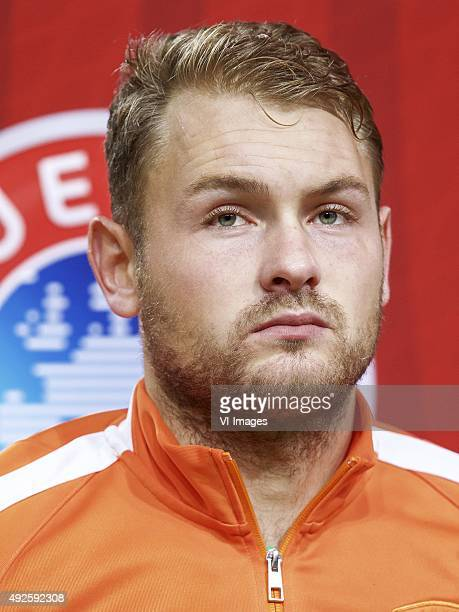 goalkeeper Jeroen Zoet of Holland during the EURO 2016 qualifying match between Netherlands and Czech Republic on October 10 2015 at the Amsterdam...