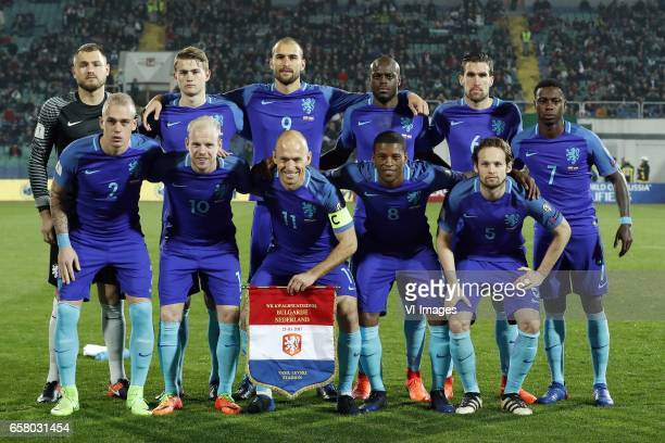 goalkeeper Jeroen Zoet of Holland Matthijs de Ligt of Holland Bas Dost of Holland Bruno Martins Indi of Holland Kevin Strootman of Holland Quincy...