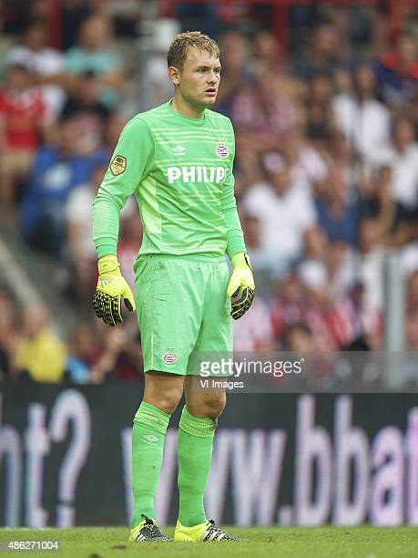 goalkeeper Jeroen Zoet of PSV during the Dutch Eredivisie match between PSV Eindhoven and Feyenoord Rotterdam at the Phillips stadium on August 30...
