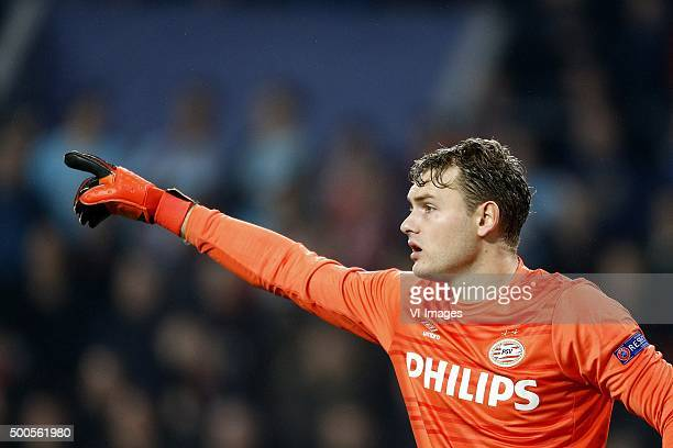 Goalkeeper Jeroen Zoet of PSV during the UEFA Champions League match between PSV Eindhoven and CSKA Moscow on December 8 2015 at the Philips stadium...