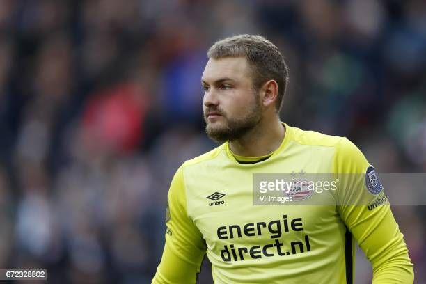 goalkeeper Jeroen Zoet of PSVduring the Dutch Eredivisie match between PSV Eindhoven and Ajax Amsterdam at the Phillips stadium on April 23 2017 in...