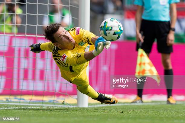 Goalkeeper Jiri Pavlenka of Bremen in action during the Telekom Cup 2017 match between Borussia Moenchengladbach and Werder Bremen at on July 15 2017...
