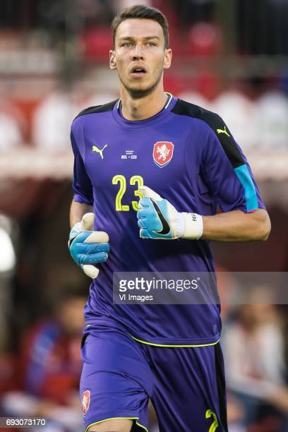 goalkeeper Jiri Pavlenka of Czech Republicduring the friendly match between Belgium and Czech Republic on June 05 2017 at the Koning Boudewijn...