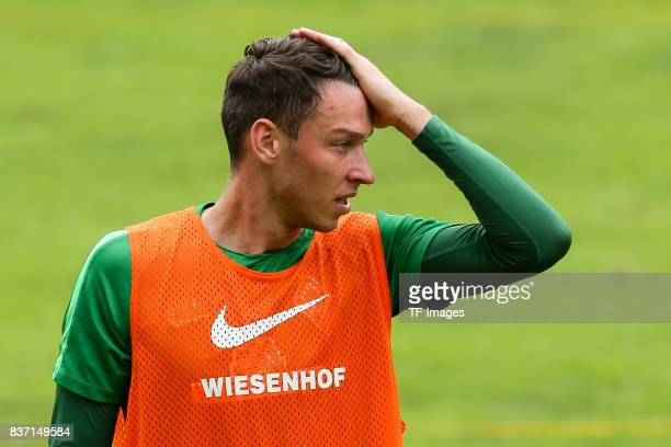 Goalkeeper Jiri Pavlenka of Werder Bremen looks om during the Training Camp of SV Werder Bremen on July 13 2017 in Zell am Ziller Austria