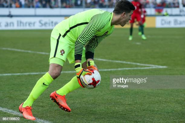 Goalkeeper Joel Pereira of Portugal controls the ball during the International Friendly match between Germany U21 and Portugal U21 at GaziStadion on...
