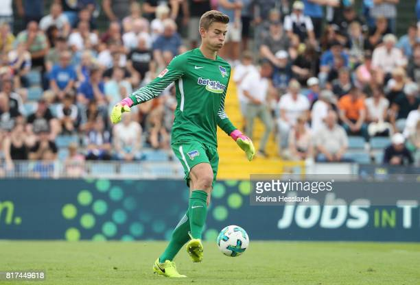 Goalkeeper Jonathan Klinsmann of Hertha during the Preseason Friendly match between FC Carl Zeiss Jena and Hertha BSC on July 16 2017 in Jena Germany